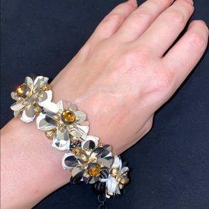 Jcrew flower statement bracelet